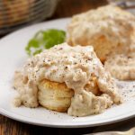 Homemade Biscuits with Sausage Gravy- Photographed on Hasselblad H3D2-39mb Camera